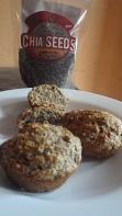wholegrain chia seed muffins